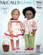 McCalls Craft Pattern 9861 Retro Doll Clothes