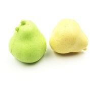 Kawaii4girl 2PCS Slow Rising Pear Squishy(Gree/Yellow) Charm Kawaii Squishies Wholesale Kids Pretend Play Soft Kitchen Toys Fruit Squishy
