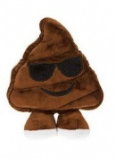 Icons Soft Toy Emoticon - Poo with Sunglasses 38cm / 15""