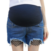 Zhhlinyuan Women's High Quality Loose Pants Shorts Pants Maternity Belly Pregnancy Belly Shorts Jeans Comfortable
