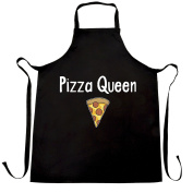 Pizza Queen I Love Pizza Food Girly Funny Slogan Cool Comfort Eating Cheese Pepperoni Crust Trend Hipster Apron Kitchen BBQ Cook Cool Birthday Gift Present