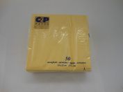 fimel- Packs 50 Luncheon Napkins Yellow in Pure Cellulose Wadding, Format 33 x 33 cm.