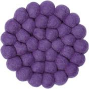 myfelt Professional Purple GU 012 009 Wilma Felt Ball Coaster, Virgin wool, 9 x 9 x 1.5 cm