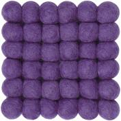 myfelt A GU Q/012 009 – 009 Wilma Felt Ball Coaster, Virgin wool, Purple, 9 x 9 x 1.5 cm