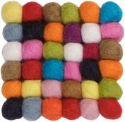 myfelt A GU Q 001 009 009 Lotte Felt Ball Coaster, Virgin wool, 9 x 9 x 1.5 cm