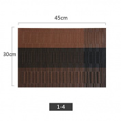 Set of 4 Placemats Simple PVC Waterproof Dining Pad Food Mat Heat Insulation Coasters 30*45Cm,D