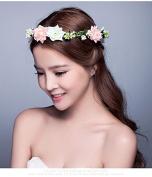 Aukmla Headbands for Women Beauty Wedding Hair Wreath Flowers Headpieces Crown Tiara Seaside Beach on Vacation
