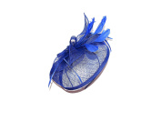 BEAUTIFUL LARGE ROYAL BLUE FEATHER HATINATOR - FASCINATOR WEDDINGS LADIES DAY