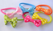 Pack of 6 colteros with Bow and Polka Dots. .