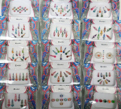 4 Packs- Pure Crystal Multicoloured Multi Size Mix n Match Face Jewels Bollywood Stickers Indian Bindi