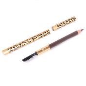 San Bodhi® 2 in 1 Leopard Waterproof Long-Lasting Eyebrow Pencil with Brush Makeup Tools