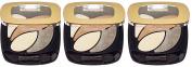 L'Oreal Paris Colour Riche Quad Eyeshadow E1 Beige Trench x 3