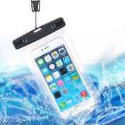 Ezyoutdoor Clear TPU Waterproof Mobile Phone Bag With Clip Phone Case Dry Bag Pouch with Strap For All Under 15cm Smartphone Random Colour