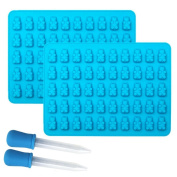 Candy Silicone Moulds & Ice Cube Trays, Gluckliy 2 Pcs Silicone Mini Bear Jelly Moulds, Chocolate Moulds, Soap Moulds