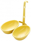 KitchenCraft Non-Stick Double Egg Poacher Cups, Yellow