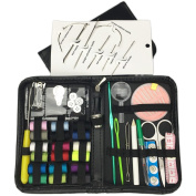 Sewing Kit Bundle with Spools Thread Needles Small Scissors and other Accessories for Home Travel and Emergency Using.