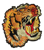 XXL Extra Large Beautiful Roaring Tiger Shirt Back Patch 19cm - Badge - Patches - Girly - Jacket - Hoodie - Boys
