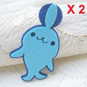 Felt Applique Iron on Applique Blue Navy Seal Sea Animal kawaii applique (Set of 2) B005