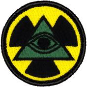 Nuclear Illuminati Patrol Patch - 5.1cm Diameter Round Embroidered Patch