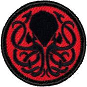 Retro Kraken Patrol Patch - 5.1cm Diameter Round Embroidered Patch
