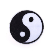 AOWA Yin Yang Embroidered Patch Badge Chinese Tai-Chi Embroidered Sew Iron On Applique Symbol Sign Logo Clothes Bag Badge Jacket Shirt Badge