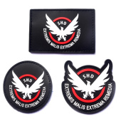 3 Paking Game Cosplay 3D PVC Red Badge Hook and loop Patch by Cilected