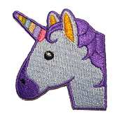 Unicorn Emoji Patch - Hook and loop Patches From Hatjoy