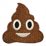 Poop Emoji Patch - Hook and loop Patches From Hatjoy