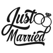 JUST MARRIED VINYL HEAT TRANSFER IRON ON