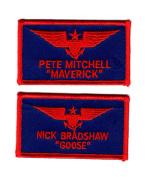 Top Gun movie US Navy Goose-Maverick Bundle 2pcs IRON ON Patch