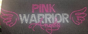 Hope Pink Ribbon Breast Cancer Awareness MOTIF Iron On Rhinestone Applique Transfer Iron on T Shirt Design Pink Warrior Angels