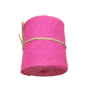 6.4cm Natural Burlap Ribbon Roll Fabric for Wedding Party Home DIY Decoration 2 Yards One Roll