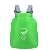 Waterproof Dry Bag, Tezoo Outdoor Duffel Gear Storage Backpack for Boating, Kayaking, Fating, Hiking, Travel, Camping, Rafting, Fishing Geen 20L