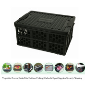 28L Collapsible Storage Bin ANG Trunk Organiser with Water-proof Bag Grated Wall Utility Basket Tote