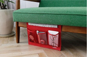 Hi girl Bedside Storage Organiser Caddy Table Cabinet Storage for Tablet Magazine Phone Remotes Red