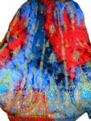 Colourful Womans Ladies Indian Boho Hippie Gypsy Sequin Summer Sundress Maxi Belly Dance Skirt