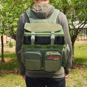 Fishing pack Fishing Tackle Bag Backpack fish bag outdoors Anglers Easy Portable Tackle Storage -Nylon