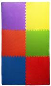 Ottomanson Multipurpose Interlocking Puzzle Eva Foam Tiles-Anti-Fatigue Mat 2.2sqm, 60cm x 60cm Tiles, Multicolor