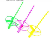 LingduanFlying Fairy 61 Children's new exotic toys, Hot, 3 piece bamboo dragonfly rotating flywheel flying saucer toys