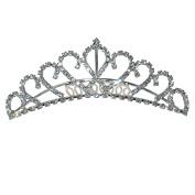 Crown Tiara Headband with Comb Crystal Rhinestones Wedding Bridal Bridesmaid Prom