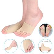 Bunion Corrector, ZJchao 1 Pair Gel Bunion Protector Sleeves Toe Metatarsal Pad and Bunion Pain Relief socks for Hallux Valgus Big Toe Corrector for Cushioning, Hammertoe Wear in Shoes