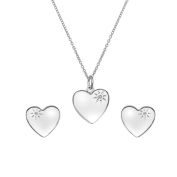 Hot Diamonds Women's Sterling Silver Shooting Star Heart Sparkle Set