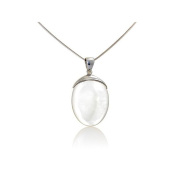 Real Sterling Silver White Mother of Pearl – Pendant aden' S Jewels – 4443