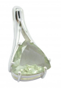 Green Amethyst 925 Sterling Silver comely india Pendant gift UK