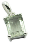 Green Amethyst 925 Sterling Silver handsome jewellery Pendant gift UK