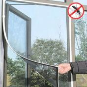 Gemini_mall® Window Insect Screen Net Mesh Kit 1.3m x 1.5m White
