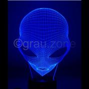 Originelle 3D LED-Lampe Alien