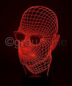 Originelle 3D LED-Lampe Gangster