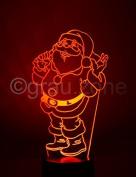 Originelle 3D LED-Lampe Santa Claus