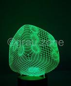 Originelle 3D LED-Lampe Würfel